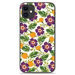 1001 Coques Coque silicone gel Apple iPhone 11 motif Fleurs Violettes