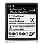 Avizar Batterie Noir pour Samsung Galaxy S4