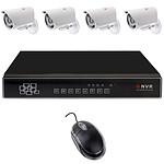 YONIS kit vidéo surveillance 4 caméras Noir Y-2331