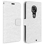Avizar Etui folio Blanc pour Motorola Moto G7 , Motorola Moto G7 Plus