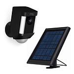 Ring Kit caméra Spotlight Cam Battery avec chargeur solaire (noir)