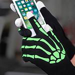 Gants tactiles squelette phosphorescents