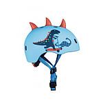 Micro Casque Vélo et Trottinette Dinosaure 3D   boucle magnétique  lumière LED intégrée  Taille M