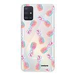 EVETANE Coque Samsung Galaxy A71 360 intégrale transparente Ananas Tendance