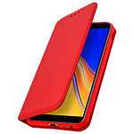Avizar Etui folio Rouge Éco-cuir pour Samsung Galaxy J4 Plus