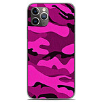 1001 Coques Coque silicone gel Apple iPhone 11 Pro motif Camouflage rose