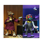 Les Tortues ninja - Pack 2 figurines Splinter & Baxter 18 cm