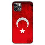 1001 Coques Coque silicone gel Apple iPhone 11 Pro motif Drapeau Turquie