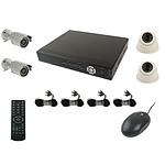 YONIS kit vidéo surveillance 4 caméras Noir Y-2326