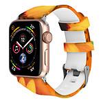 Avizar Bracelet de montre Orange pour Apple Watch 7 / 6 / SE / 5 / 4 / 3 / 2 / 1 (42 / 44 / 45 mm)