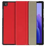 Avizar Étui Samsung Galaxy Tab A7 10.4 2020 Support Vidéo et Clavier Design Fin Rouge