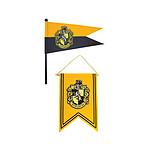Harry Potter - Set bannière & drapeau Hufflepuff