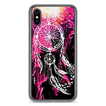 1001 Coques Coque silicone gel Apple iPhone XS Max motif Dreamcatcher Rose