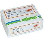 Wago Lot De 50x Borniers De Raccordement Rapide Avec Levier (3 Bornes) - Wago WAG_221413_LOT50