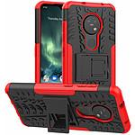 Lapinette Coque Anti Chocs pour Nokia 6.2 Modèle Spider Rouge