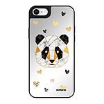 EVETANE Coque iPhone 7/8/SE 2020 miroir Panda Géométrique Design