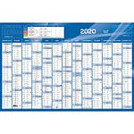QUO VADIS Calendrier 13 Mois 67X43 cm Bleu