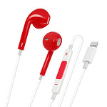 Avizar Ecouteurs Rouge pour Tout Appareils dotés d'un port Lightning et compatibles Bluetooth