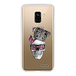 EVETANE Coque Samsung Galaxy A8 2018 souple transparente Tête de mort couronn
