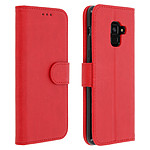 Avizar Etui folio Rouge Portefeuille pour Samsung Galaxy A8