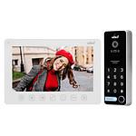 Vibell Kit Interphone 7 Pouces Avec écran, Lecteur De Badge Et Digicode Version Blanc ORN_VIDEX1061_W
