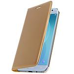 Avizar Etui folio Dorée Éco-cuir pour Samsung Galaxy J5 2017