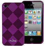 PURO  Coque iPhone 4 Rhomby  Violet