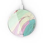 EVETANE Chargeur Induction contour argent blanc Mercure Pastels