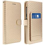 Avizar Etui folio Dorée pour Smartphones de 3.8' à 4.3'