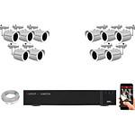 EC-VISION Kit vidéo surveillance IP 10 caméras tubes POE 5 MegaPixels
