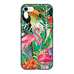 EVETANE Coque iPhone 7/8/ iPhone SE 2020 Silicone Liquide Douce bleu marine Animaux Tropicaux