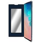 Avizar Etui folio Bleu Nuit Miroir pour Samsung Galaxy S10
