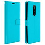 Avizar Etui folio Bleu Éco-cuir pour Sony Xperia 1