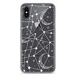1001 Coques Coque silicone gel Apple iPhone X / XS motif Lignes étoilées
