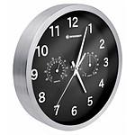 Bresser Horloge Murale 25cm Mytime Avec Température Et Humidité Couleur Noire BRE_8020310CM3000