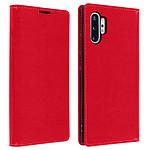 Avizar Etui folio Rouge Cuir Véritable pour Samsung Galaxy Note 10 Plus