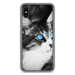 1001 Coques Coque silicone gel Apple iPhone XS Max motif Chat yeux bleu
