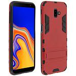Avizar Coque Rouge Bi-matières pour Samsung Galaxy J6 Plus