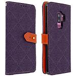 Avizar Etui folio Violet pour Samsung Galaxy S9 Plus