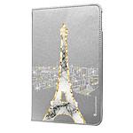 LA COQUE FRANCAISE Etui iPad 2/3/4 rigide argent Illumination de paris