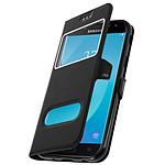 Avizar Etui folio Noir pour Samsung Galaxy J7 2017