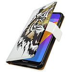 Avizar Etui folio Blanc pour Honor 8A , Huawei Y6 2019 , Huawei Y6S , Honor 8A 2020