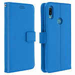 Avizar Etui folio Bleu pour Honor 8A , Huawei Y6 2019 , Huawei Y6S