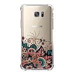 LA COQUE FRANCAISE Coque Samsung Galaxy S7 anti-choc souple angles renforcés transparente Cachemire bleu corail