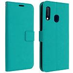 Avizar Etui folio Turquoise pour Samsung Galaxy A20e