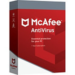 McAfee AntiVirus Plus - Licence 1 an - 3 postes - A télécharger