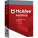 McAfee AntiVirus Plus - Licence 1 an - 3 postes - A télécharger