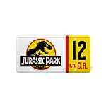 Jurassic Park - Réplique 1/1 plaque minéralogique Dennis Nedry