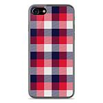 1001 Coques Coque silicone gel Apple IPhone 8 motif Tartan Tricolor