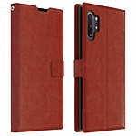 Avizar Etui folio Marron pour Samsung Galaxy Note 10 Plus